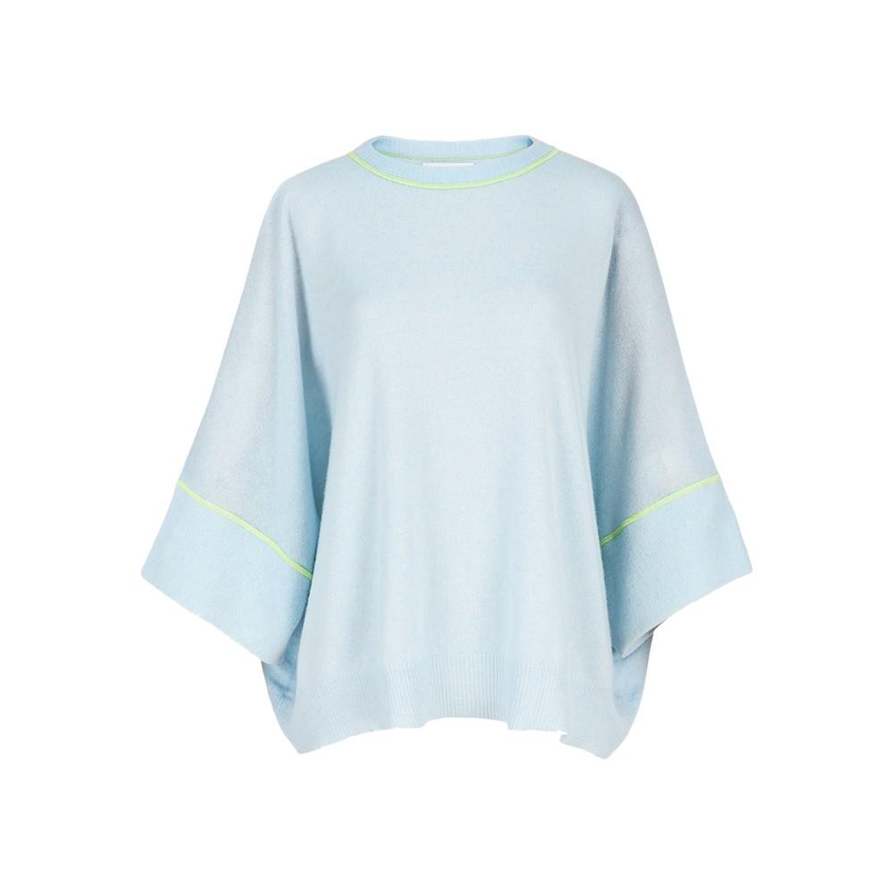 Zacifico Merino Wool Mix Jumper - Sky Blue
