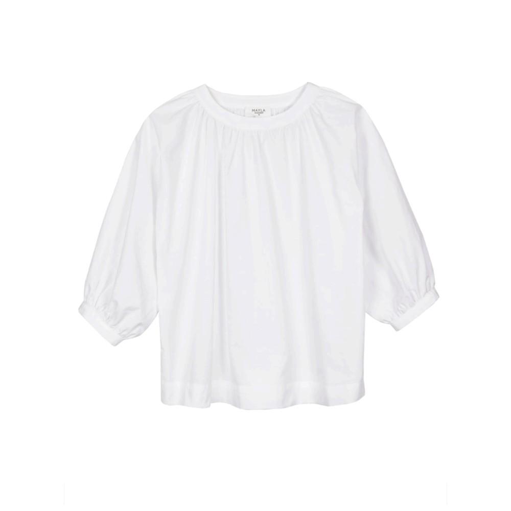 Maya Organic Cotton Top - White