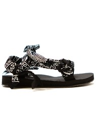 ARIZONA LOVE Trekky Chou Tie Up Sandals - Black Bandana