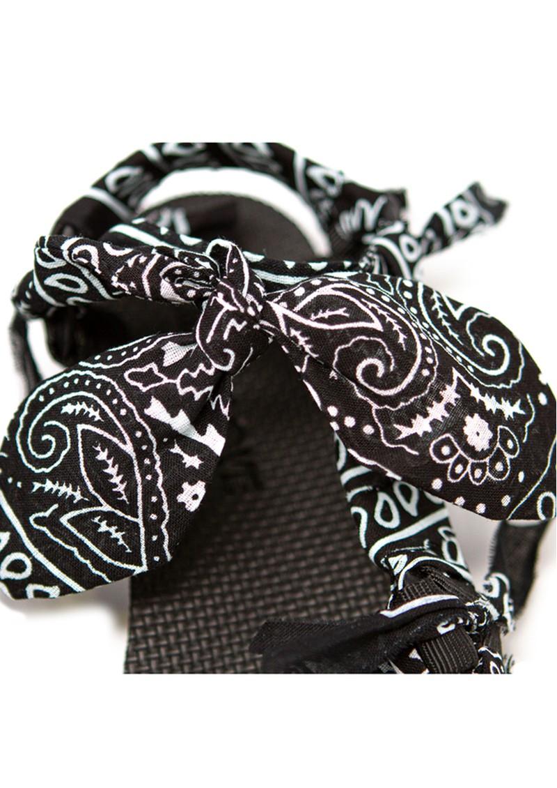 ARIZONA LOVE Trekky Chou Tie Up Sandals - Black Bandana main image