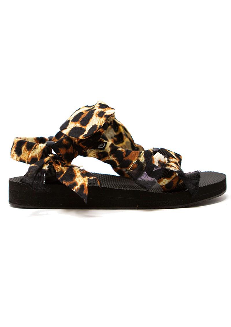 ARIZONA LOVE Trekky Chou Tie Up Sandals - Leopard main image