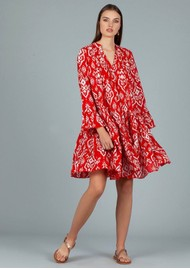 DREAM Lobster Cotton Dress - Triburg Red