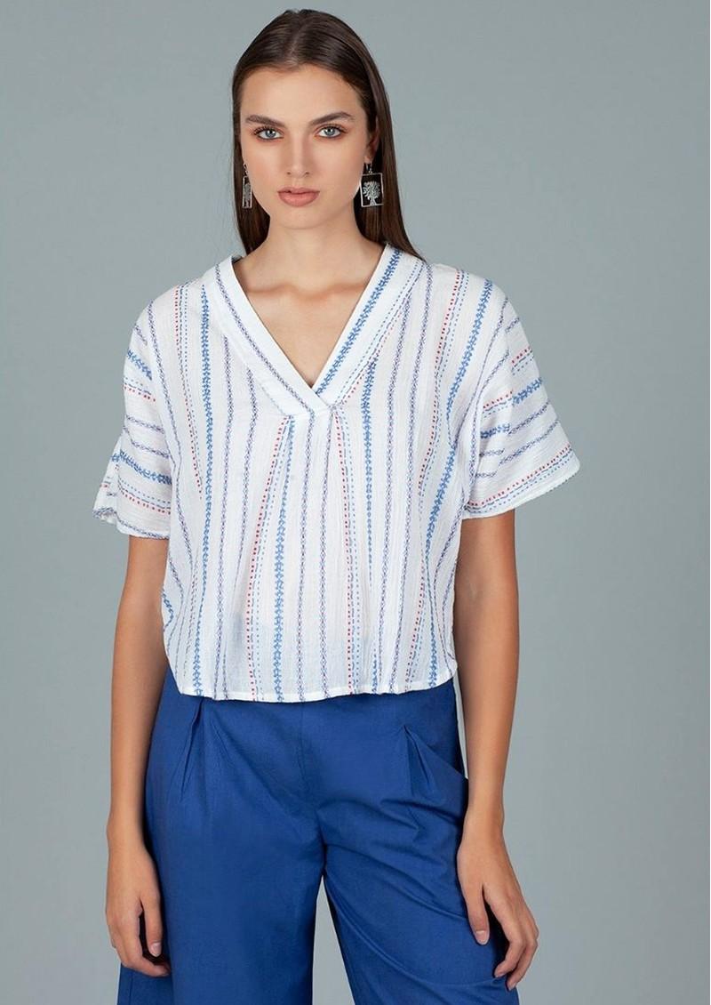 DREAM Striped Cotton Top - Multi main image