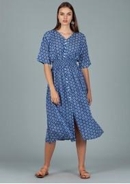 DREAM Hanoi Cotton Dress - Shanghai Blue