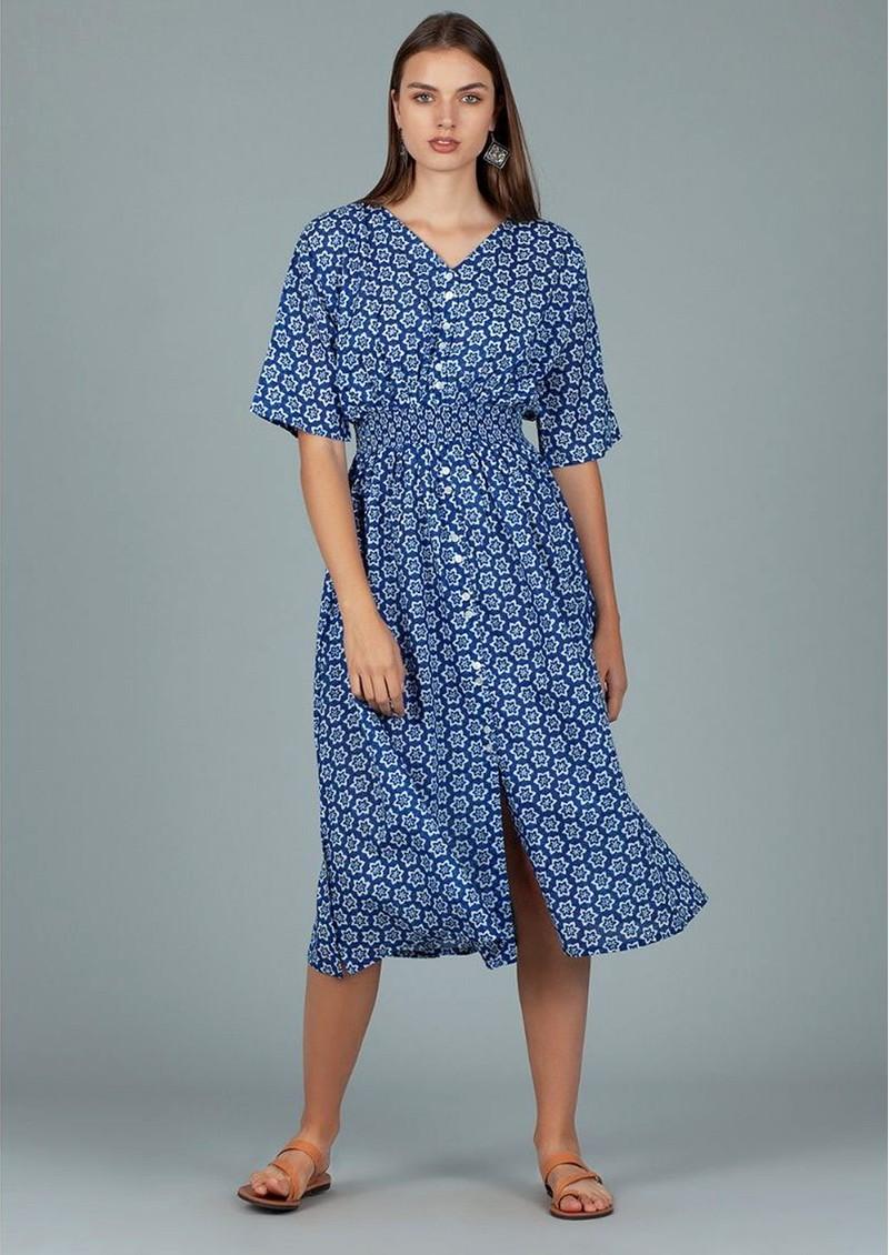 DREAM Hanoi Cotton Dress - Shanghai Blue main image