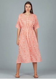 DREAM Hanoi Cotton Dress - Lama Coral