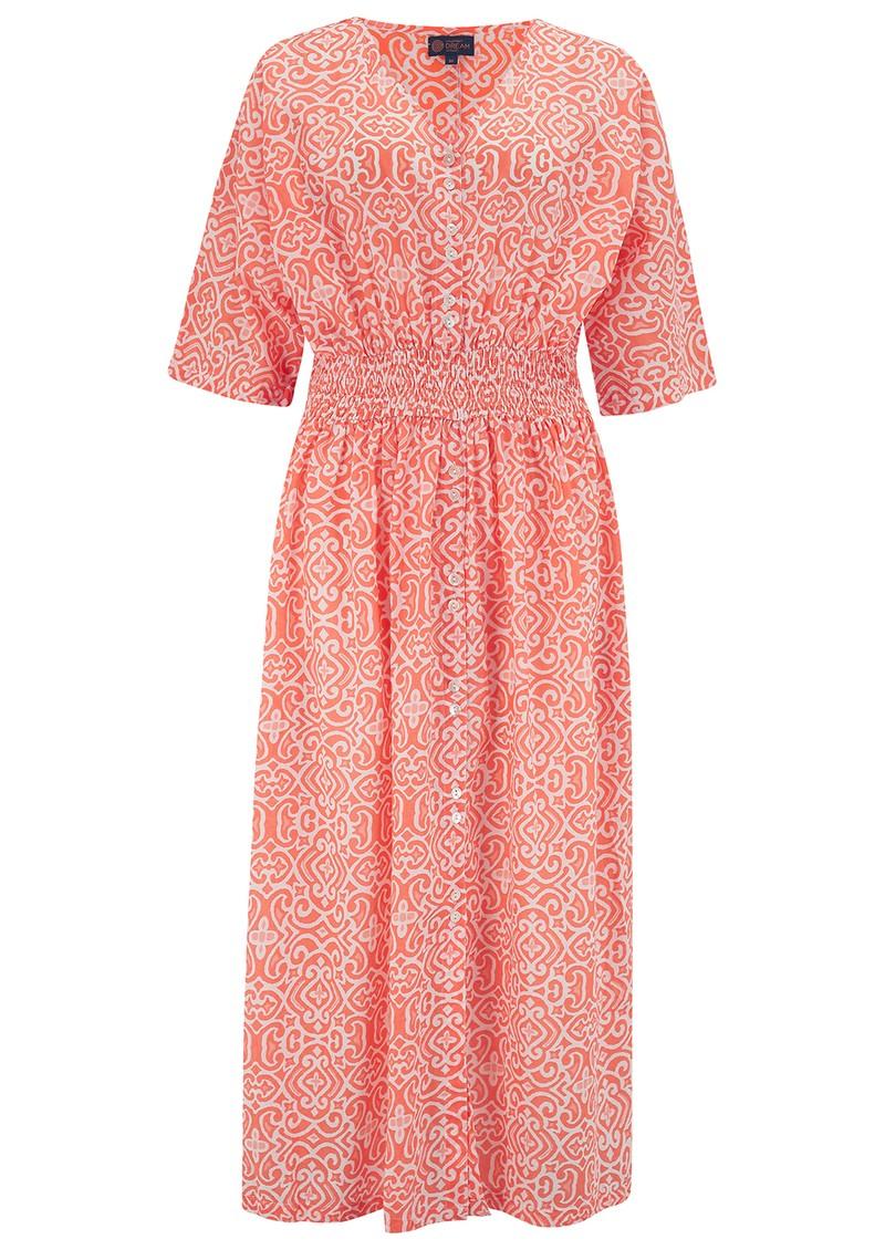 DREAM Hanoi Cotton Dress - Lama Coral main image