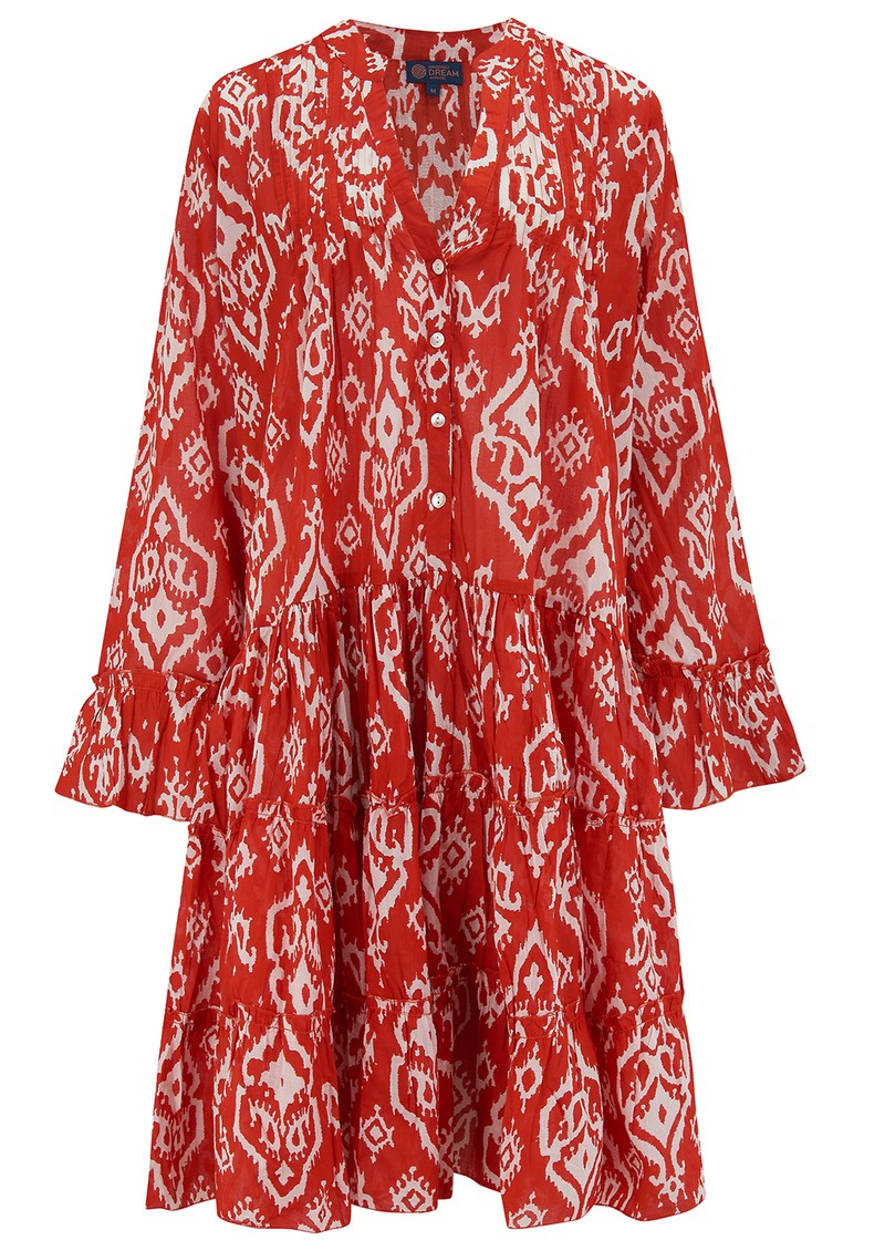 DREAM Lobster Cotton Dress - Triburg Red main image