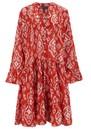 Lobster Cotton Dress - Triburg Red additional image