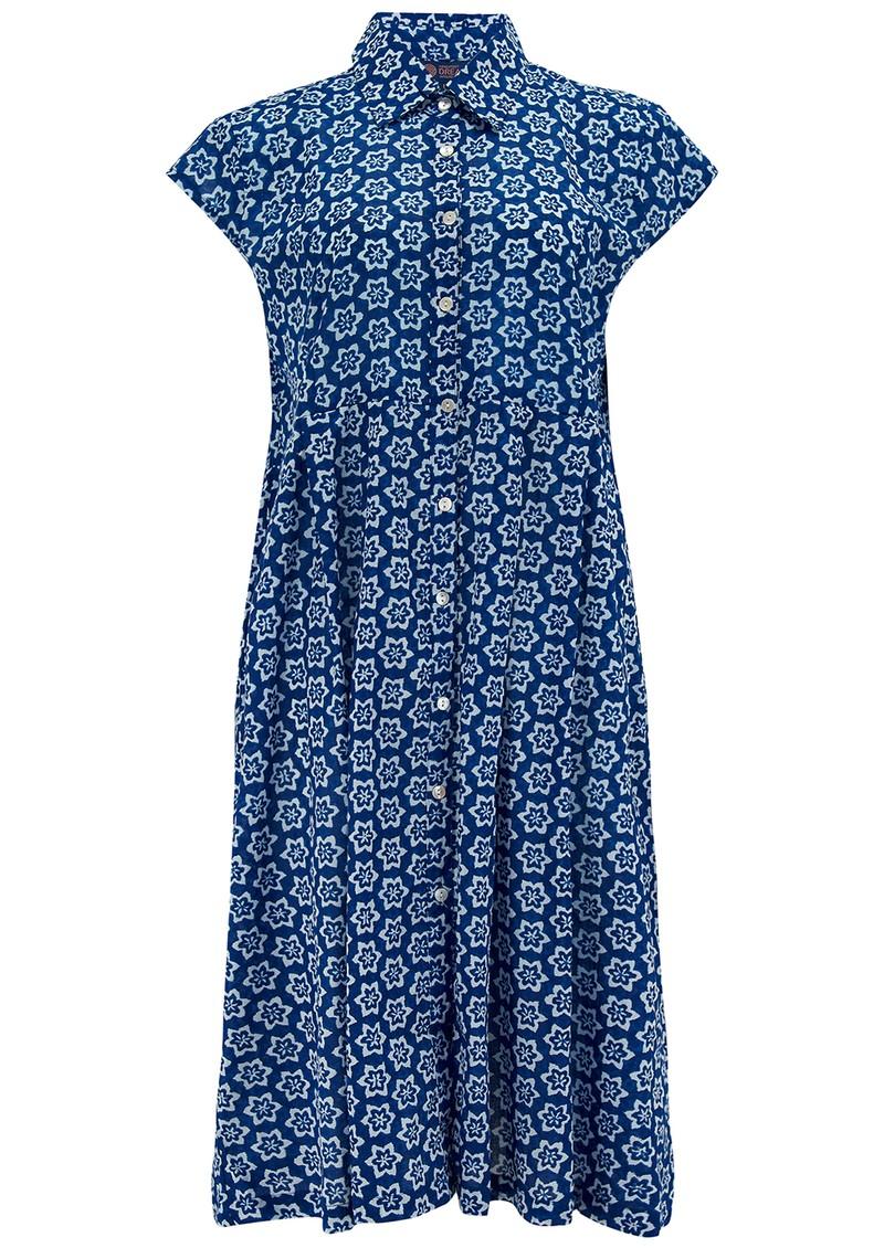 DREAM Arlington Cotton Shirt Dress - Shanghai Blue main image