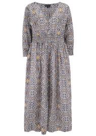 DREAM Roma Cotton Dress - Lama Grey & Yellow