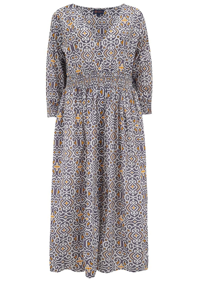 DREAM Roma Cotton Dress - Lama Grey & Yellow main image