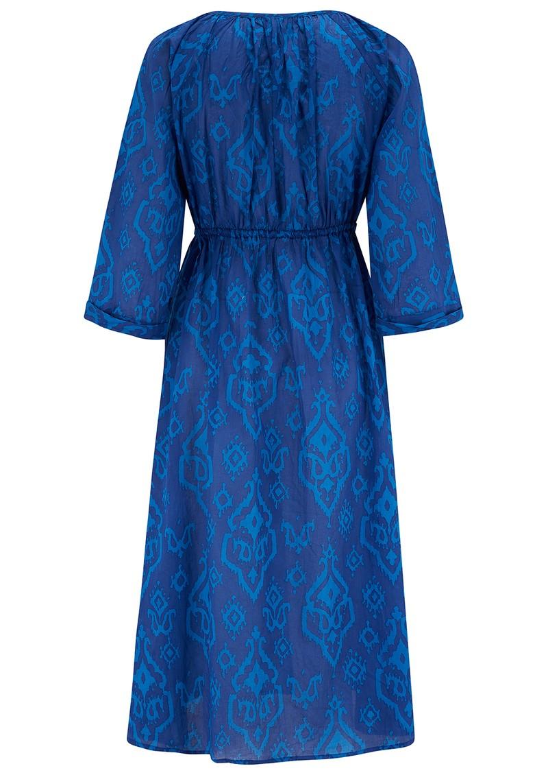 DREAM Charleston Cotton Dress - Triburg Blue main image