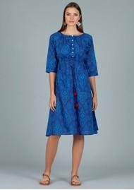 DREAM Charleston Cotton Dress - Triburg Blue