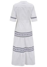 DREAM Gabriella Cotton Dress - White & Blue
