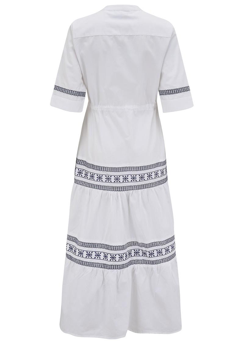 DREAM Gabriella Cotton Dress - White & Blue main image