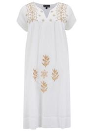DREAM Tunic Cotton Dress - White & Gold