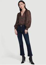 Frame Denim Le Crop High Rise Bootcut Jeans - Cabana