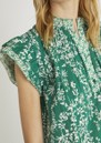 Toscane Printed Cotton - Top - Green  additional image