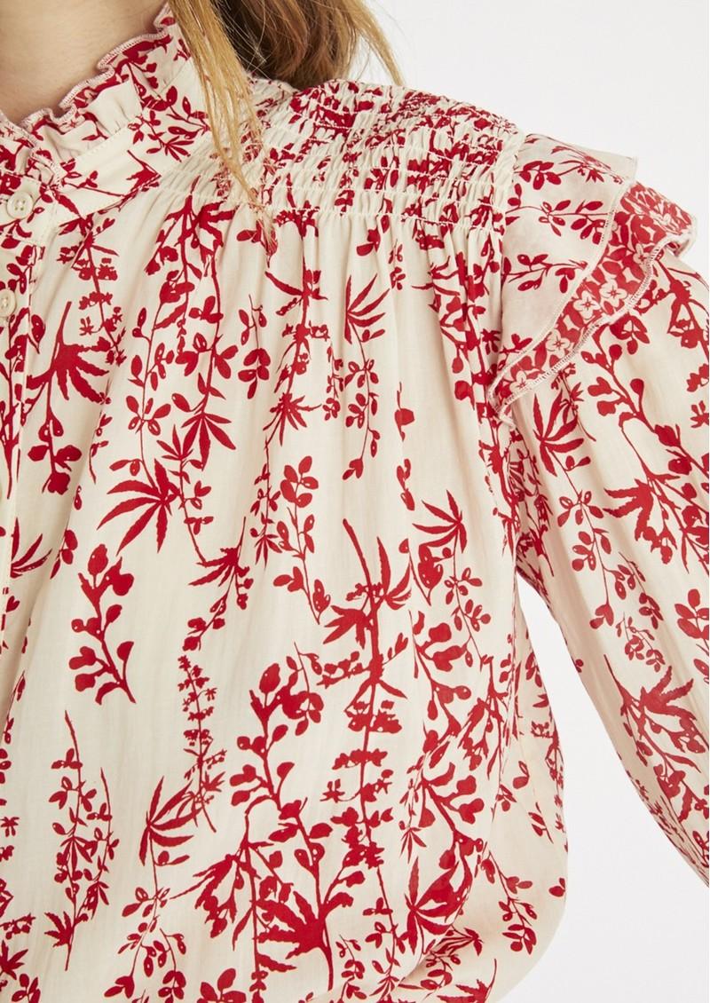 BERENICE Carl Smock Blouse - Red main image