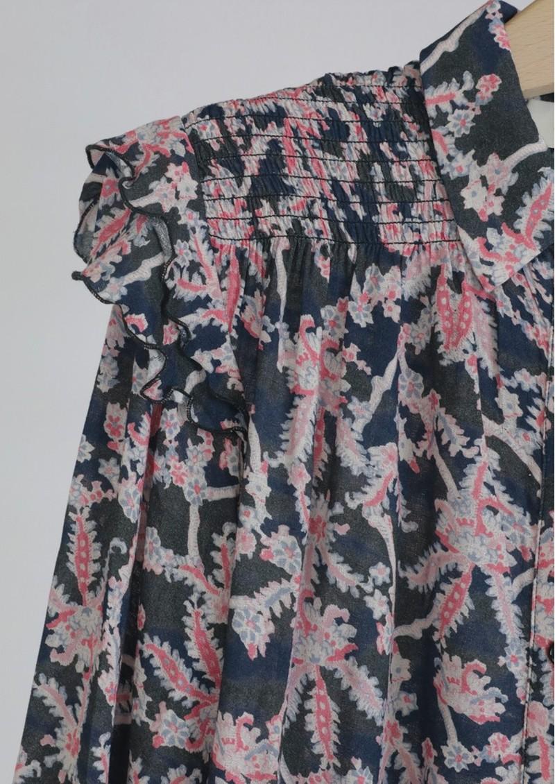 BERENICE Carlie Smock Shirt - Night Balan main image