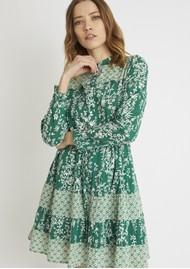 BERENICE Reason Cotton Printed Short Dress - Green