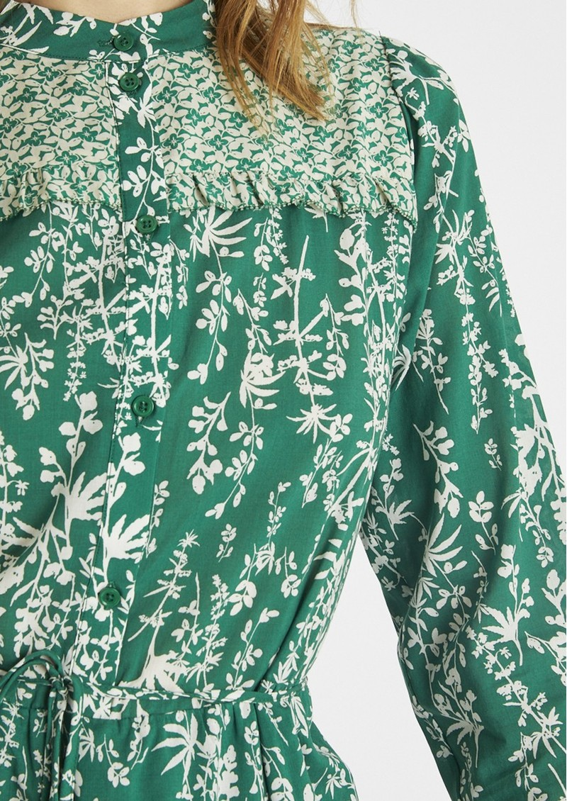 BERENICE Reason Cotton Printed Short Dress - Green  main image