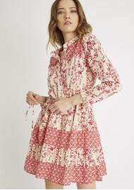 BERENICE Reason Cotton Printed Short Dress - Red