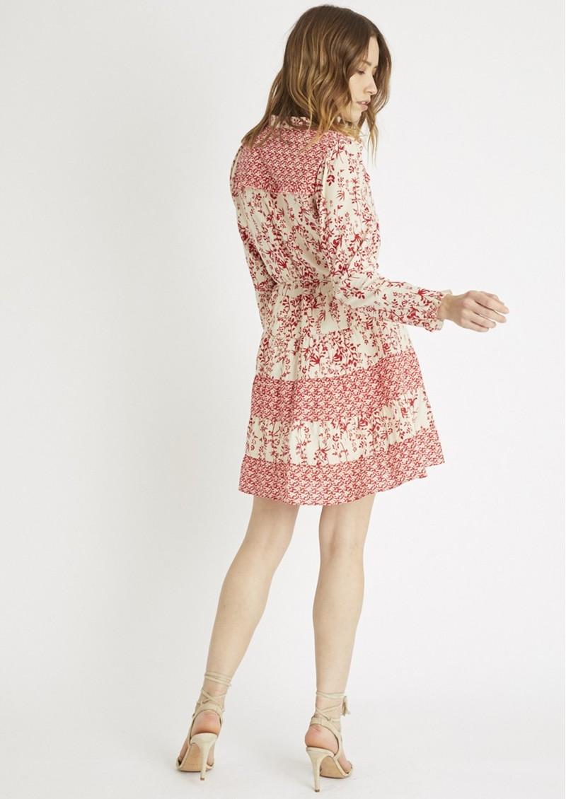 BERENICE Reason Cotton Printed Short Dress - Red main image
