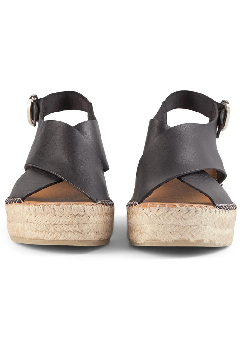 SHOE THE BEAR Orchid Leather Cross Sandals - Black main image