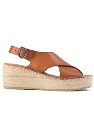 SHOE THE BEAR Orchid Leather Cross Sandals - Tan