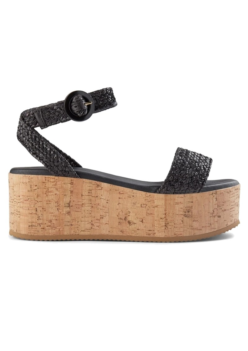 Begonia Leather Ankle Strap Sandals - Black main image