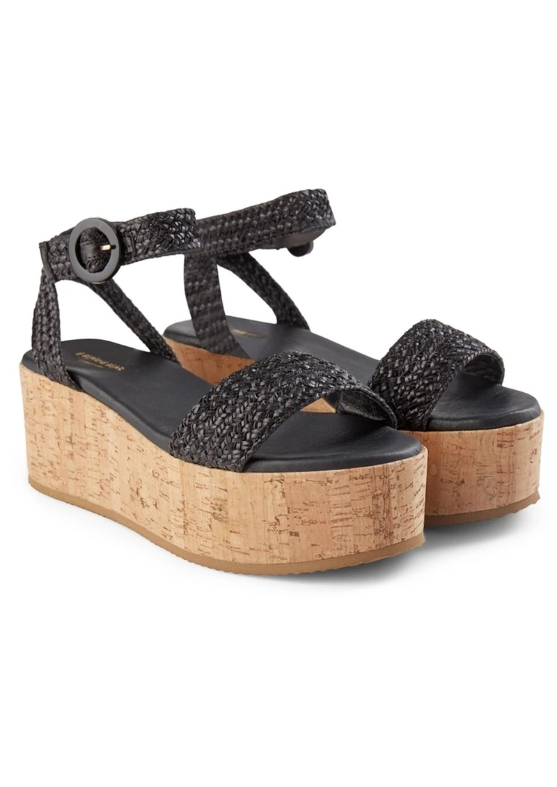 SHOE THE BEAR Begonia Leather Ankle Strap Sandals - Black main image