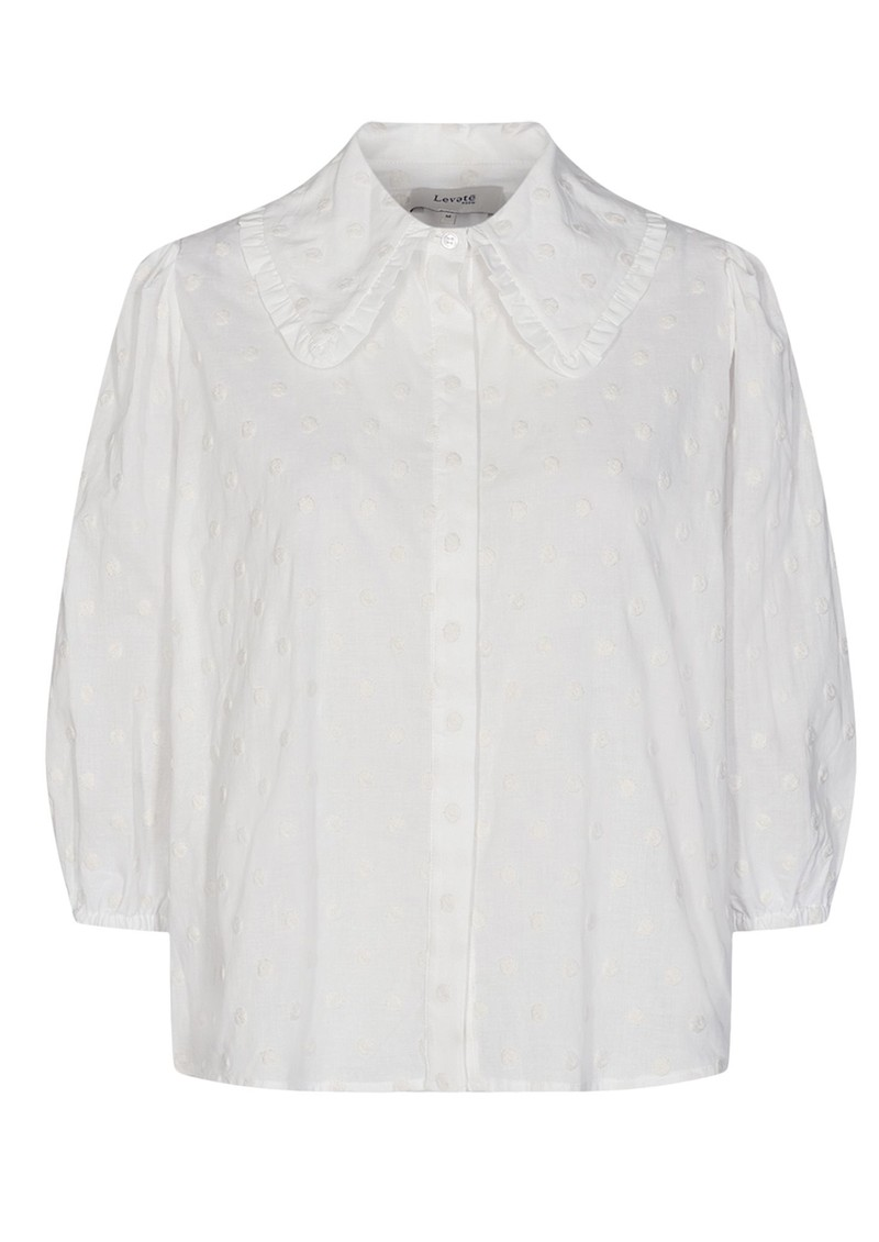 LEVETE ROOM Norma 2 Cotton Shirt - Cream  main image
