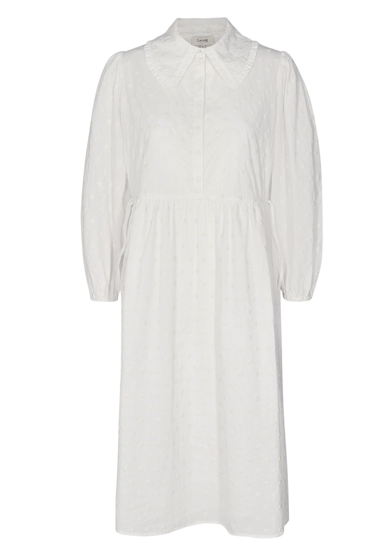 LEVETE ROOM Norma 1 Cotton Dress - Off White main image