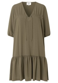 SECOND FEMALE Tara Dress - Stone Green