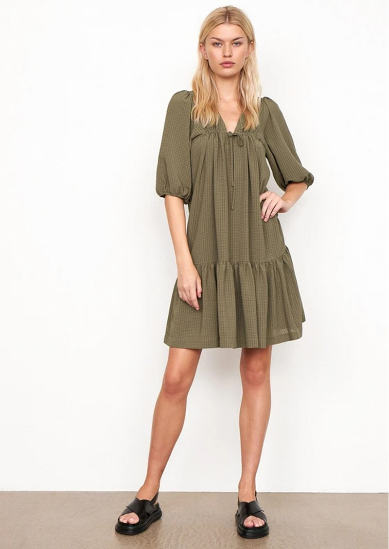 SECOND FEMALE Tara Dress - Stone Green main image