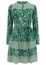 Reason Cotton Printed Short Dress - Green  additional image