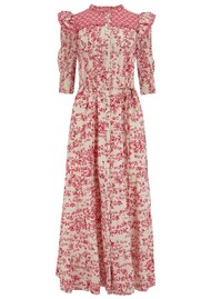 BERENICE Reggae Long Printed Cotton Dress - Red