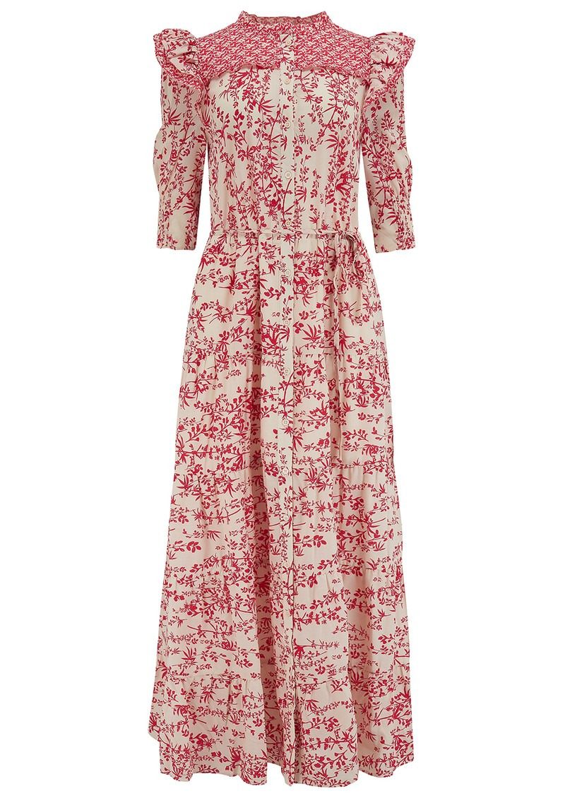 BERENICE Reggae Long Printed Cotton Dress - Red  main image