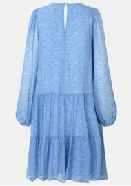 SECOND FEMALE Mano Printed Midi Dress - Blue Bonnet