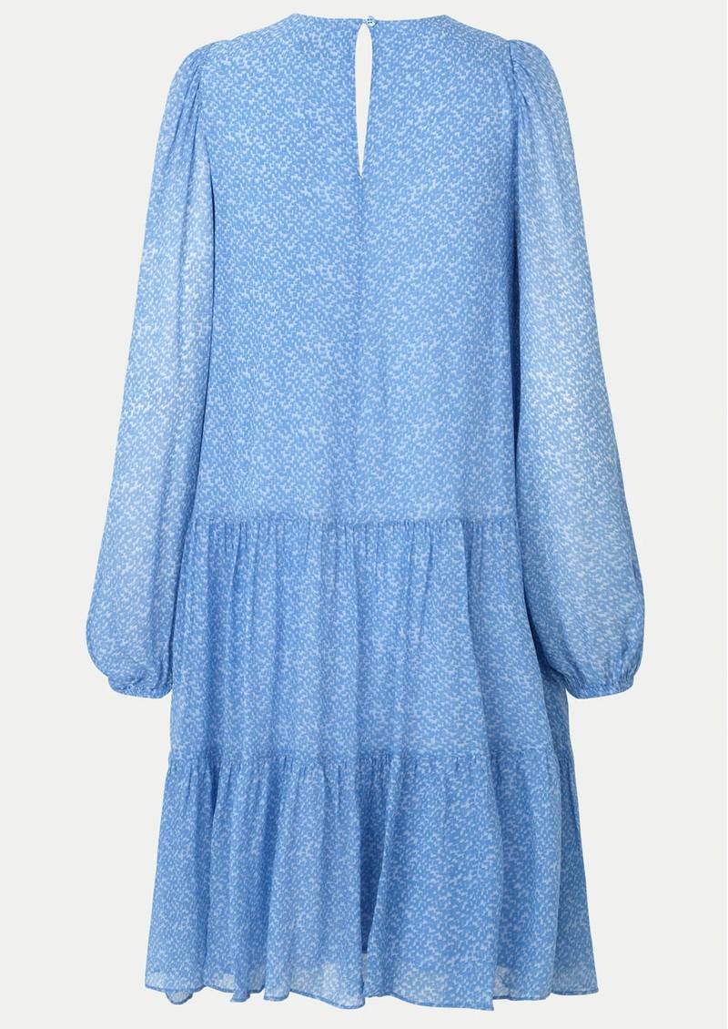 SECOND FEMALE Mano Printed Midi Dress - Blue Bonnet main image