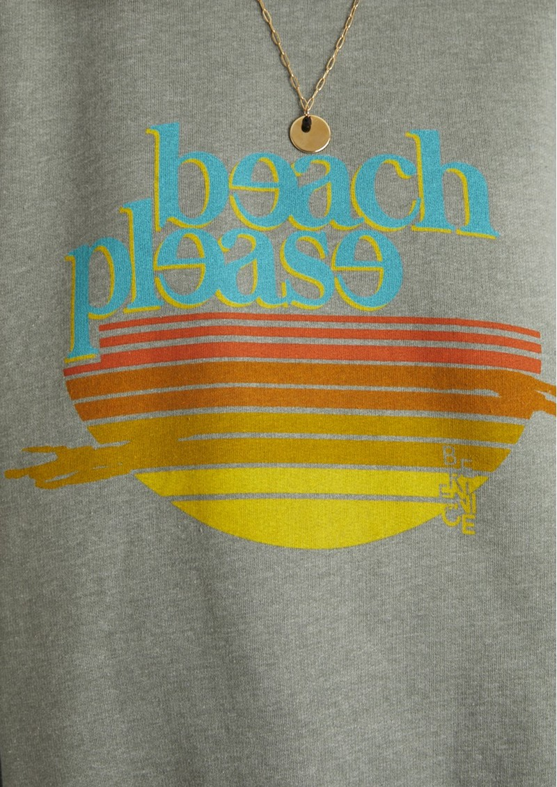 BERENICE Beach Please Sweatshirt - Green Tea main image