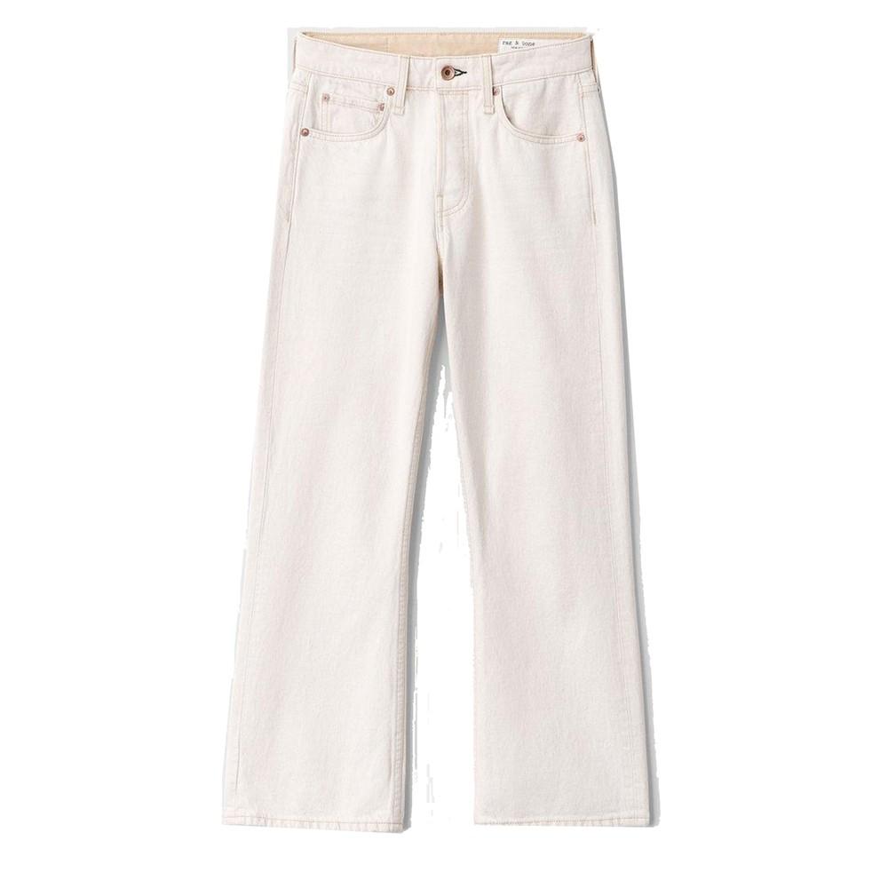 Maya High Waisted Slim Fit Cropped Jeans - Ecru