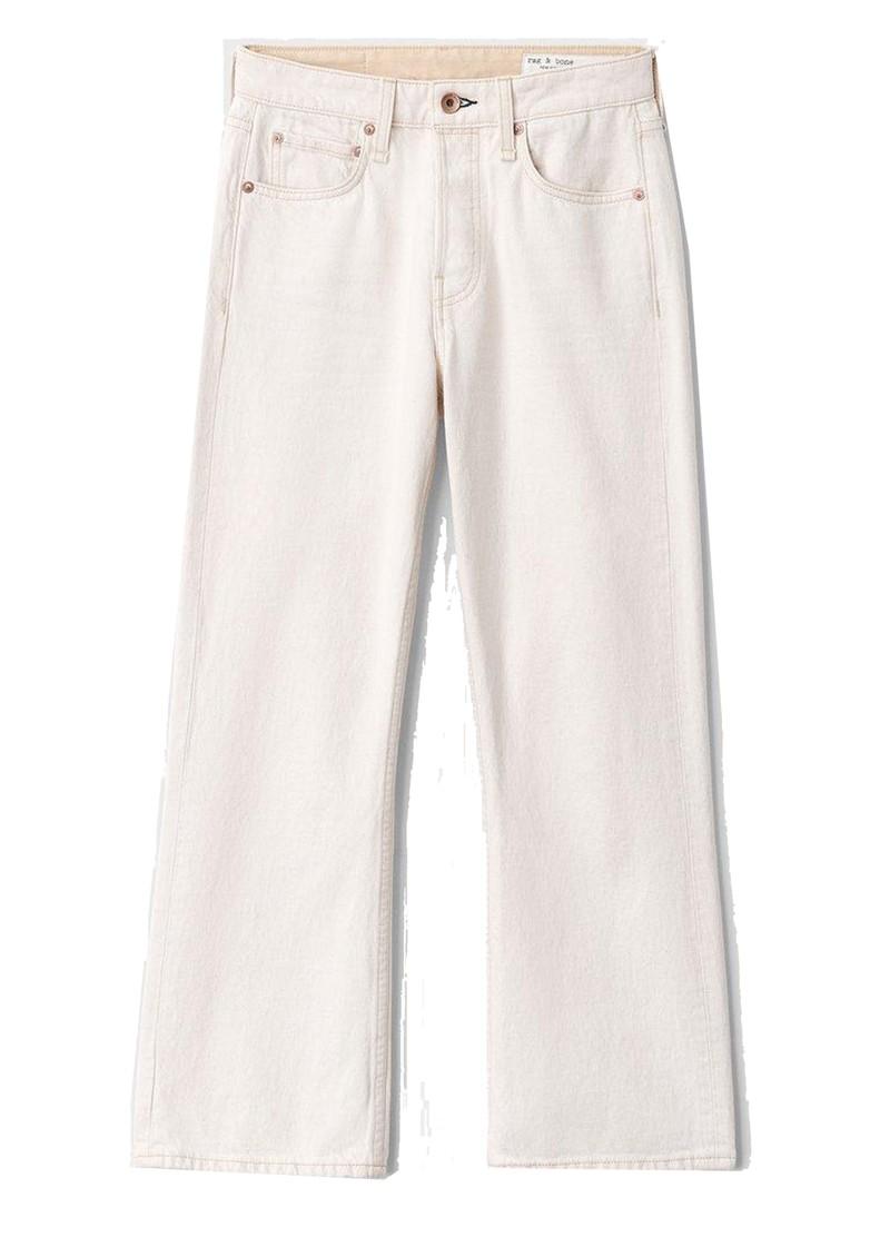 RAG & BONE Maya High Waisted Slim Fit Cropped Jeans - Ecru main image