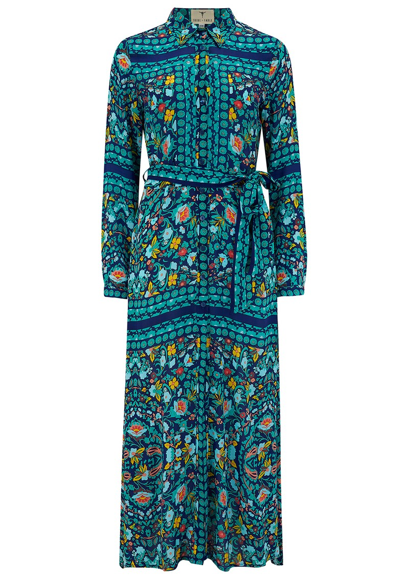 TRIBE + FABLE New California Chemise Dress - Poolside main image