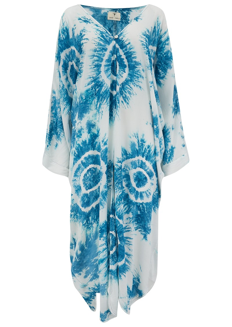 TRIBE + FABLE Eye Tie Dye Duster - Blue & White main image