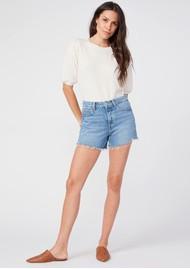 Paige Denim Noella Raw Hem Cut Off Shorts - Serine