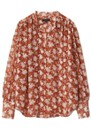 Carly Floral Tie Top - Pecan additional image