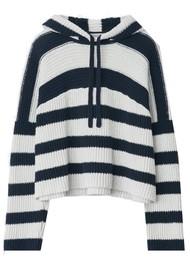 RAG & BONE Sunny Striped Hoodie - Navy Stripe